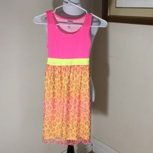 Justice colorful animal print dress. Girls size 12